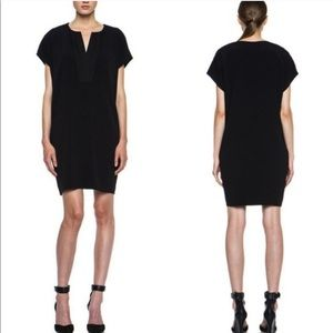 Vince Black Pleat Front Mini Dress Size XS